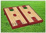 BASKETBALL COURT Cornhole Boards BEANBAG TOSS GAME w Bags NBA Fans Gift Set 314