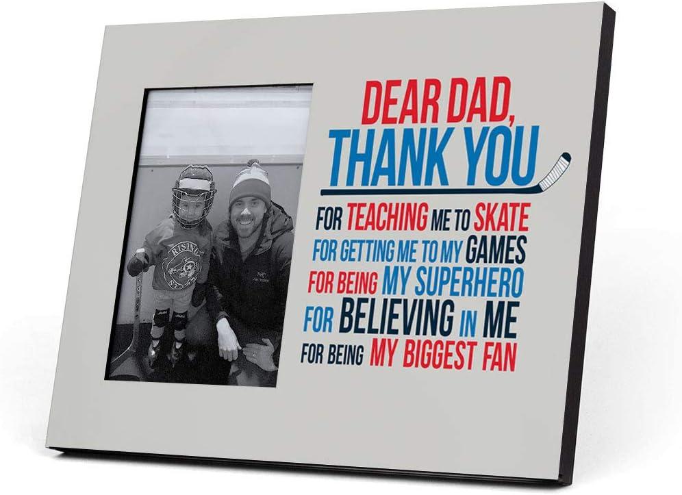 ChalkTalkSPORTS Hockey Dear Dad Picture Frame | Blue/Red