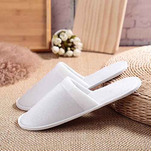 JUIOKK Disposable Slippers Non-Slip Unisex Hotel Homestay Homestay Homestay Open Toe Flat Spa Shoes Guesting Travel Holiday Airline... B07CZC7LKQ Shoes 5dc4b6