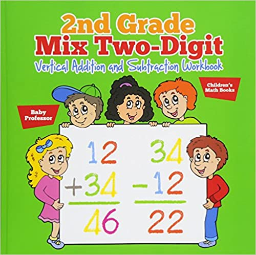 2nd Grade Mix Two Digit Vertical Addition And Subtraction Workbook
