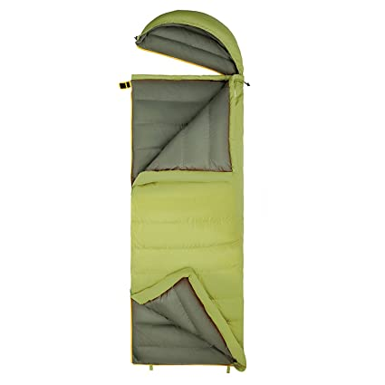 King Camp Saco de dormir (Plumón de 26 °C/de 14.8 °F con cabezal ...