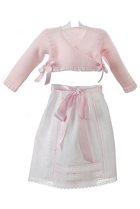 Isabel Maria - Conjunto de faldón y chaqueta cruzada para bebé ...