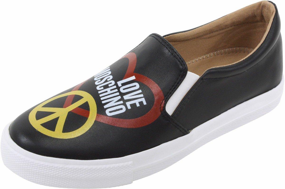 Love Moschino Women's Black Slip-On Fashion Sneakers Shoes Sz: 6