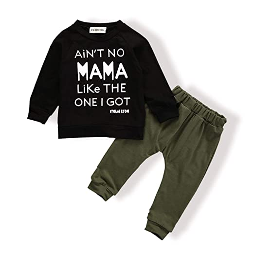Baby Boy Clothes Funny Letter Printed Tops Leggings Pants Outfits Set For Toddler Boys 0