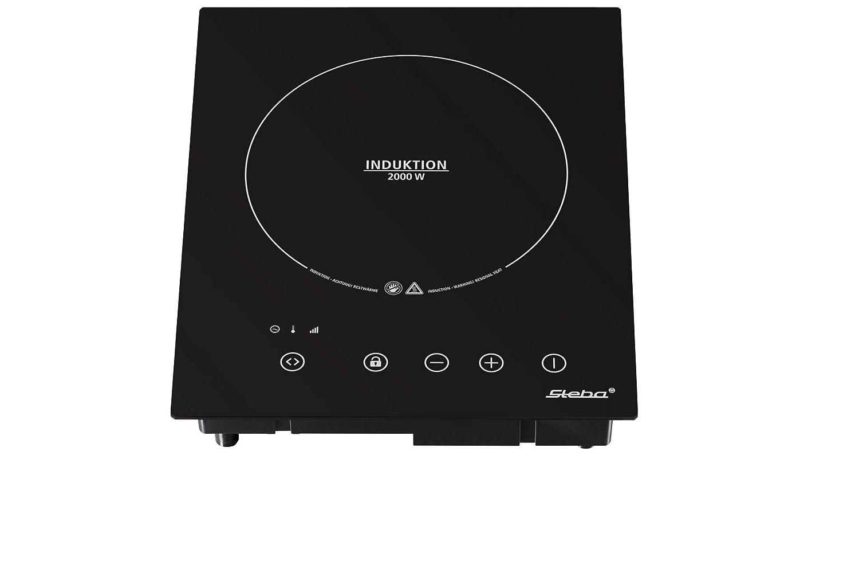 Steba IK 60 E, 2000 W, 220 V, 50 Hz, Buttons, Frontal superior, Negro