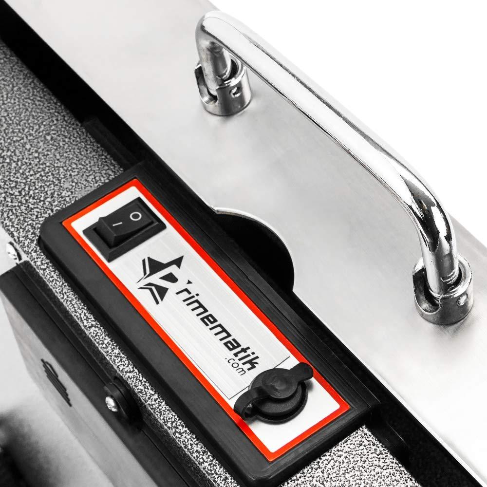 PrimeMatik Balanza Industrial de Plataforma 42x32 cm B/áscula port/átil de Acero Inoxidable 150 Kg