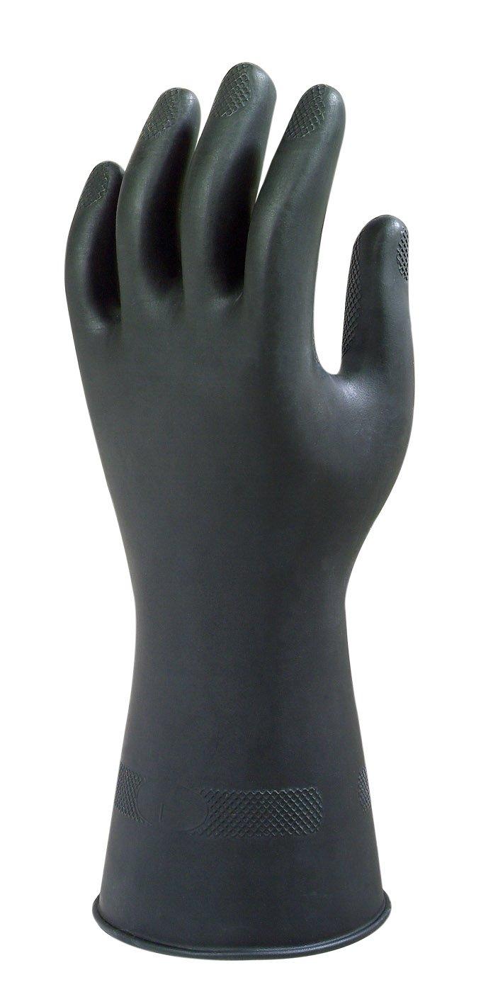 Ringelblume Industrie g17 K Heavy Duty Starke schwarz Schwergewicht chemischen Schutz Handschuhe Paar, 6.5 S Ansell