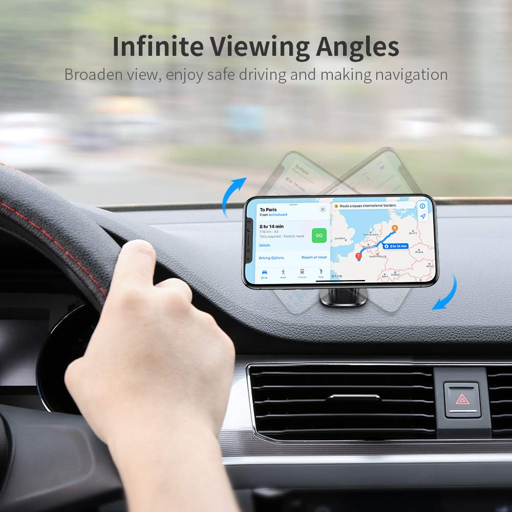 Cell Phone Holder for Car Magnetic 2 PACK FLOVEME Magnetic Phone Car Mount Hands Free Phone Mount for Car Dashboard Car Phone Holder for iPhone 11 Pro Max XR XS Max X 8 7 Plus Samsung Galaxy S10 S9 S8