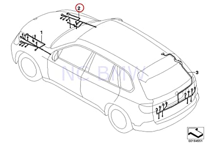 Amazon Com Bmw Genuine Rep Wiring Harness Absdsc Front Right