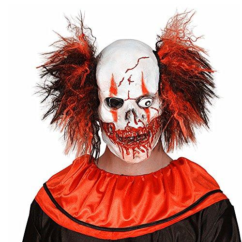 Killer Clown Prank Costume (Chns Christamas Masks Men's Creepy Evil Scary Halloween Joker Clown Mask Festival Party Supplies Decoration)