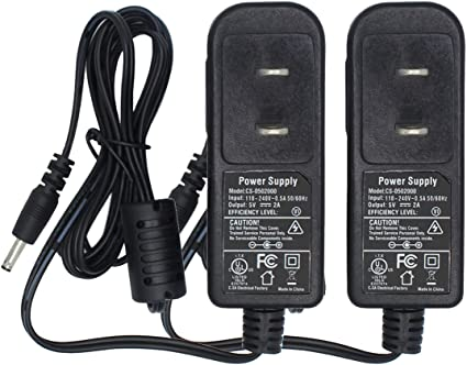 5V DC 2A 2000mA AC Adapter 3.5mm × 1.3mm Home Wall Charger Power Supply Cord New
