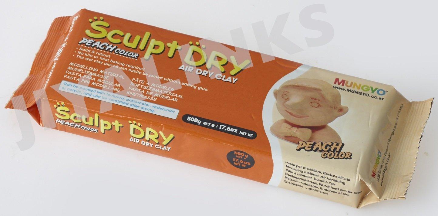MUNGYO SCULPT DRY MODELLING AIR DRY CLAY PEACH COLOR 500 g KOREA