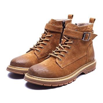 SHANGWU Botines Martin Boots para Hombre nuevos Zapatos Inglaterra para Hombre Botas de Trabajo Casual Botines Chelsea Botines para Hombre (Color : Marrón): ...