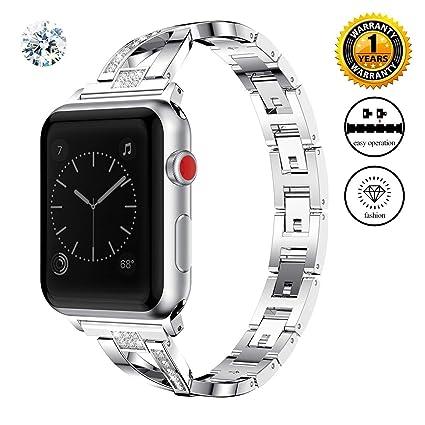 WEKIN - Correa de Repuesto para Apple Watch, de Acero ...
