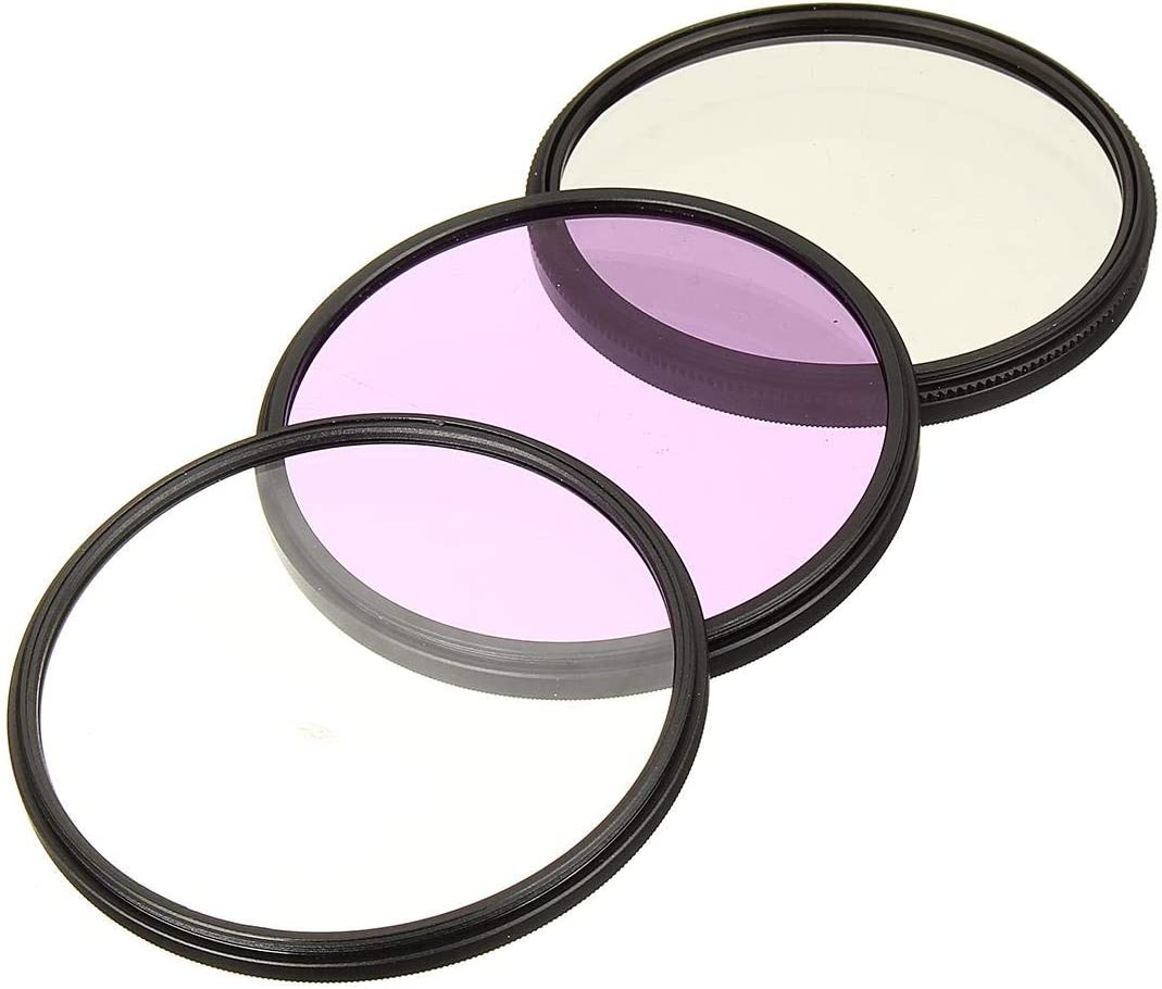 ND UV CPL Filter 49MM 52MM 55MM 58MM 62MM 67MM 72MM 77MM UV+CPL+FLD 3 in 1 Lens Filter Set with Bag for Sony Cannon for Nikon Pentax Camera Lens 58mm