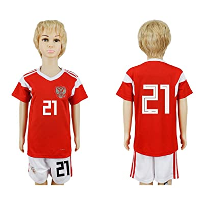 Puizozi 2018 Russia World Cup Russia National Team #21 Kids Home Sport Soccer Jersey
