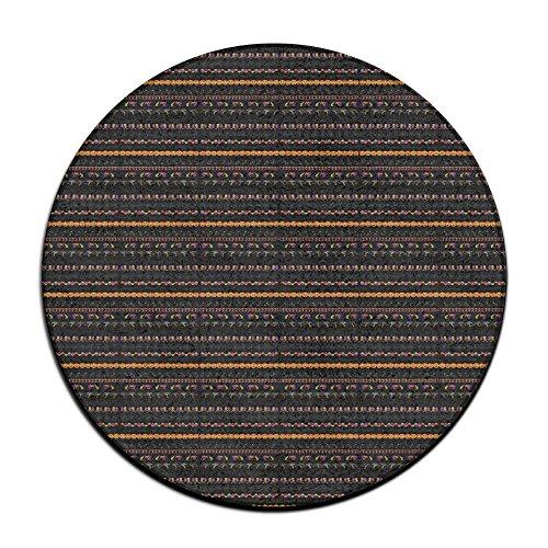 Halloween Borders Clip Art Round Floor Rug Doormats For Home Decorator Dining Room Bedroom Kitchen Bathroom -