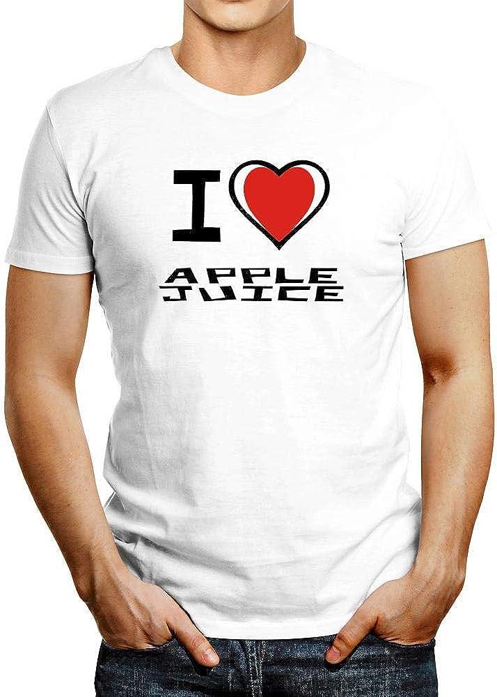 Idakoos I Love Apple Juice Bicolor Heart T-Shirt