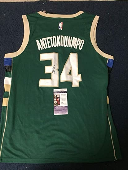 Image Unavailable. Image not available for. Color  Giannis Antetokounmpo  Autographed Signed Auto Milwaukee Bucks Nike Jersey ... 6a75026e5