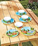 12-Pc.Happy Camper Dinnerware Set