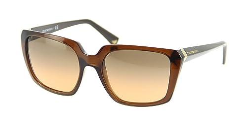 Emporio Armani Für Frau 4026 Transparent Brown / Orange Gradient Kunststoffgestell Sonnenbrillen