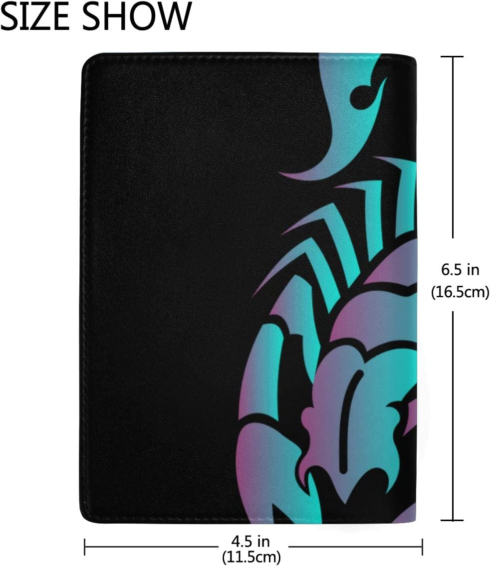 Scorpion Contours Are Poisonous Blocking Print Passport Holder Cover Case Travel Luggage Passport Wallet Card Holder Made With Leather For Men Women Kids Family