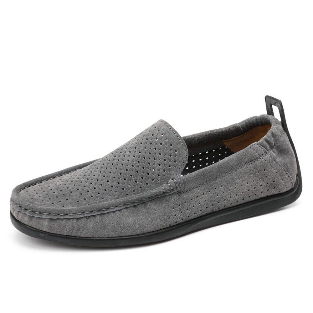 Zapatos ovalados de Baja Ayuda de Ocio de los Hombres de Verano con Gamuza 40 EU|Gris