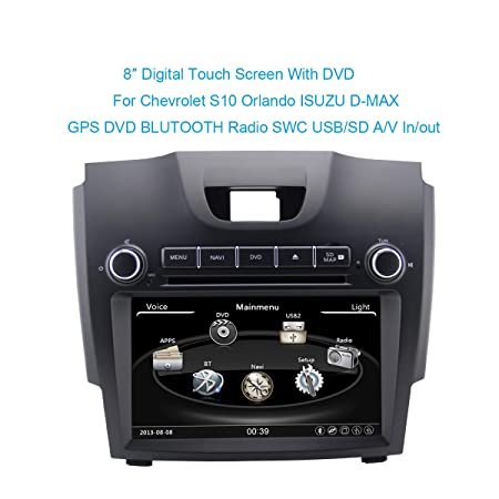 Amazon.com: Touch Screen Car DVD GPS Player for Chevrolet S10 Trailblazer Isuzu D-max Navigation Radio Bt Tv Ipod 3g Free Map: Car Electronics