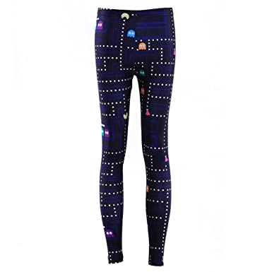 c0904b2dd Sunling Women Stretchy Cute Pacman Costume Compression Leggings Pant Tights  M