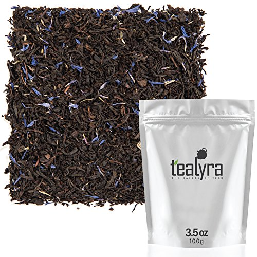 Tealyra - Cream Earl Grey - Classic Black Loose Leaf Tea - Citrusy with Vannilla Flavor - Fresh Award Winning Tea - Medium Caffeine - All Natural Ingredients - 100g (3.5-ounce) (Tea Cream)