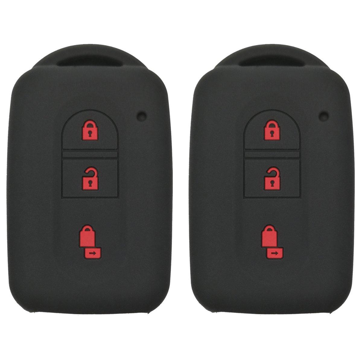 Coolbestda silicone 3 pulsanti Smart Key Fob Protector case senza telecomando giacca per Nissan Tiida note Navara Qashqai Micra Juke X-Trail Pathfinder