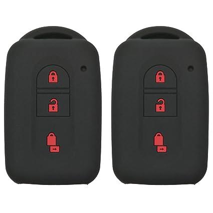 Coolbestda Carcasa de silicona con 3 botones para Nissan Tiida Note Navara Qashqai Micra Juke X-Trail Pathfinder