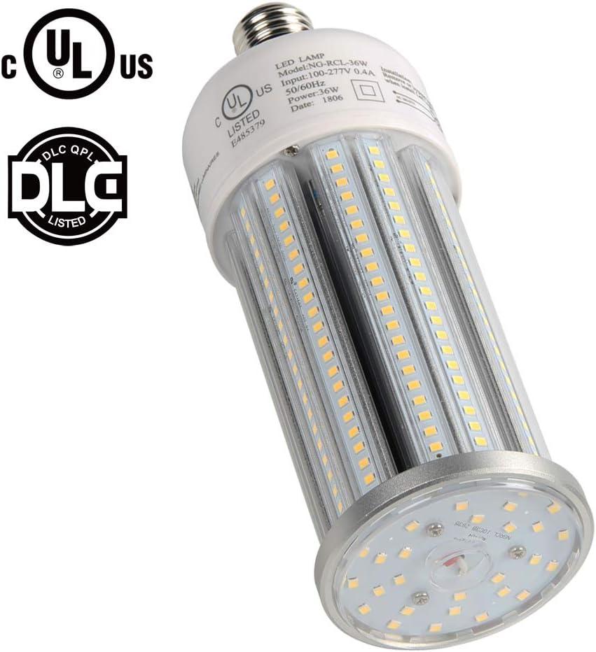 Remove or Bypass Ballast 100W LED Corn Bulb E39 Mogul Base Retrofit 150W-400W Metal Halide//HPS//HID//CFL Post Light Wall Pack Shoebox Low//High Bay Light Fixture UL DLC Listed