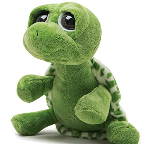 Daxiong 25 cm Ojos Grandes Lindos Tortuga Verde Suave muñeca ...