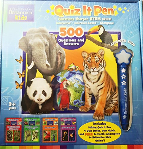 Quiz It Pen ENCYCLOPAEDIA BRITANNICA Kids 500 Questions and Answers [Books and Pen Box Set]