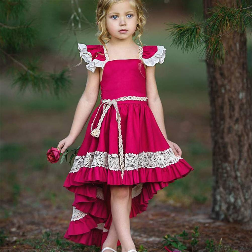 Fancy Flower Girl Dress Princess Lace Tulle Cotton Pageant Photo Gowns Wedding Birthday Party Maxi Christmas Costume Dress