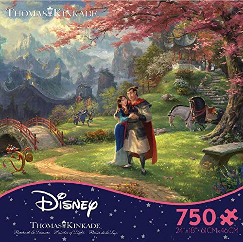 Ceaco 750 Piece Thomas Kinkade The Disney Collection - Mulan Jigsaw Puzzle, Kids and Adults