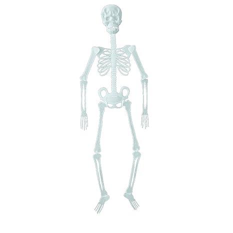 Happy Event Halloween Requisiten vibrantes Esqueleto humano Distressed Decoración para Fiesta al aire libre