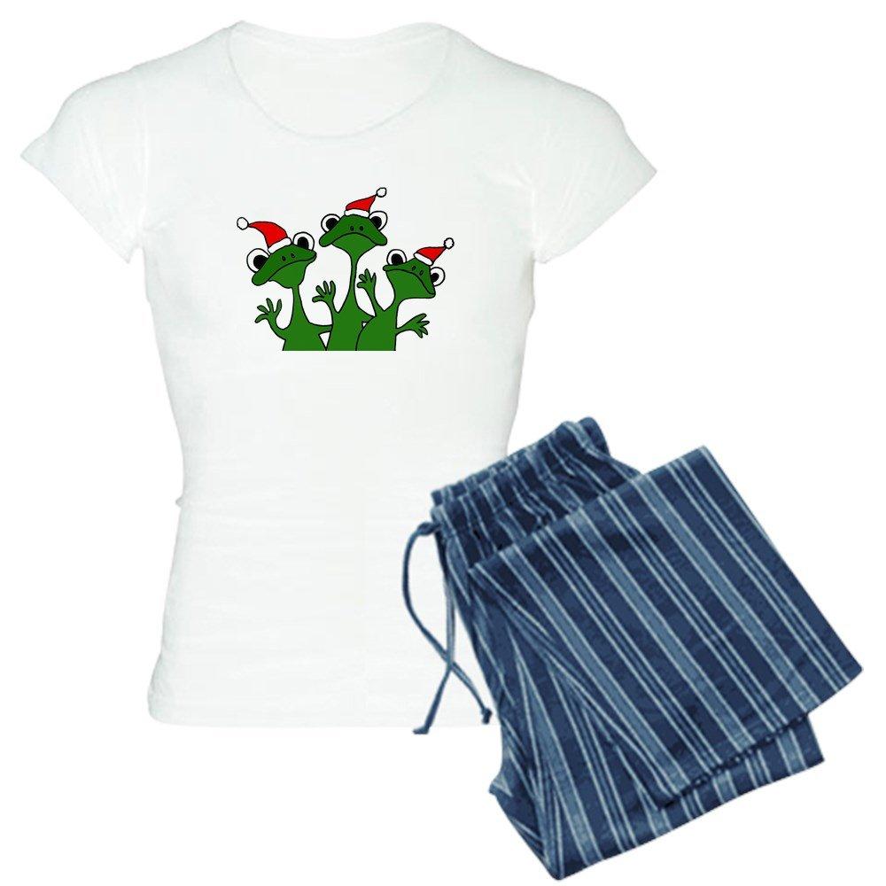 CafePress - Frogs In Santa Hats Pajamas - Womens Pajama Set