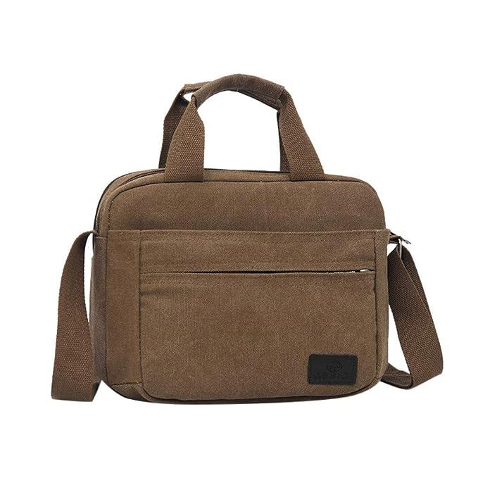Bolsa de Hombro versión Horizontal Lona de la Moda de los Hombres de Color sólido Bolsas de Negocios Bolsas de Mensajero 2056 Bolso de Mano Estuche de ...