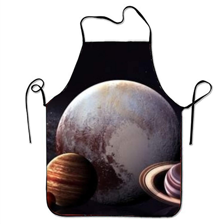 MXYG Solar System Apron Unisex Kitchen Bib Aprons Adjustable Polyester