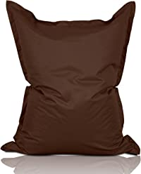 Lumaland Luxury Riesensitzsack XXL Sitzsack 380l Füllung 140 x 180 cm Indoor Outdoor Braun