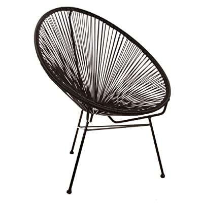 Design Tree Home Acapulco Chair, Black