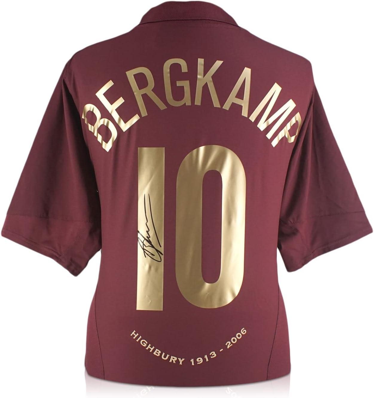 Dennis Bergkamp Signed Arsenal Home Jersey In Gift Box