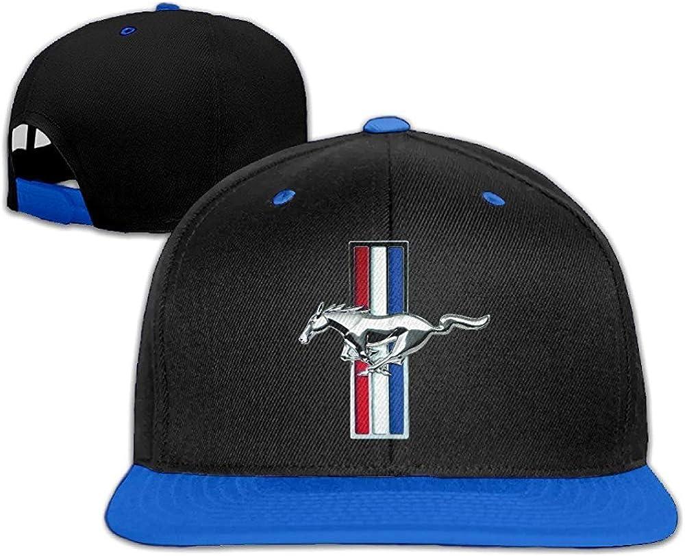 ObduliO ABSOP Ford Mustang GT Adjustable Snapback Hip-hop Baseball Cap Royalblue