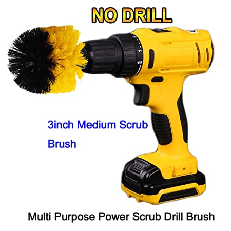 oxoxo round cleaning brush attachments 3in diameter drill powered