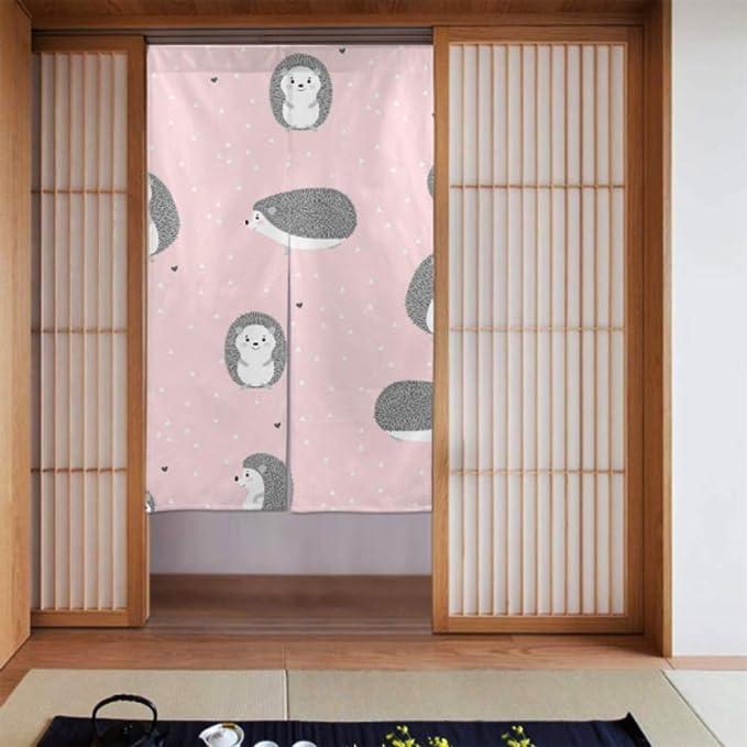 Generies - Cortina de cocina con cenefa para decoración de puerta de casa, cocina, 86 x 143 cm: Amazon.es: Hogar
