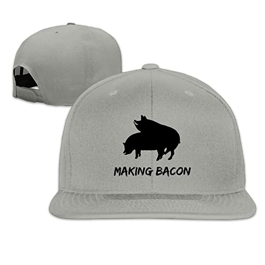 Makin Making Bacon Pig Snapback Hip Hop Baseball Caps For Men Women at Amazon  Men s Clothing store  75401eb2ef75