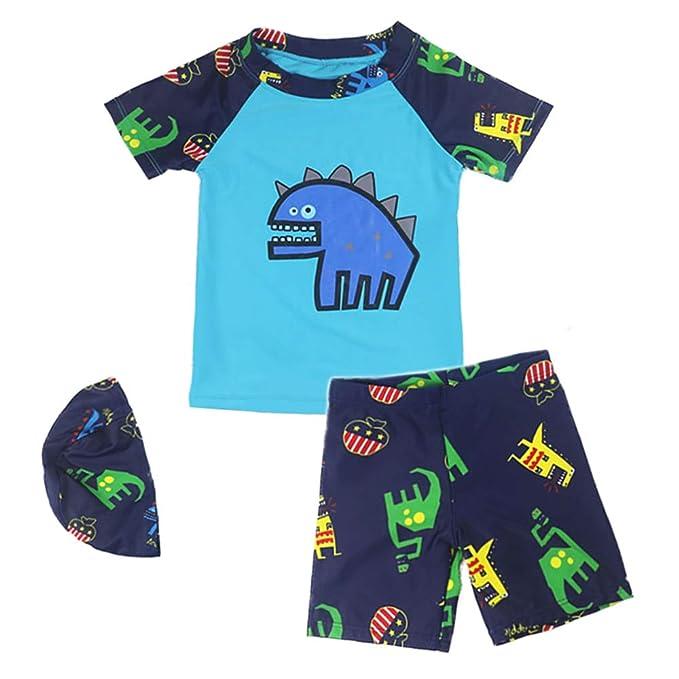 d4f41f5e3e Megartico Boys' Swimsuit Rash Guard Long Sleeve Two Piece Kids Bathing Suit  Swim Sets Trunk - Swimwear Beach Sport