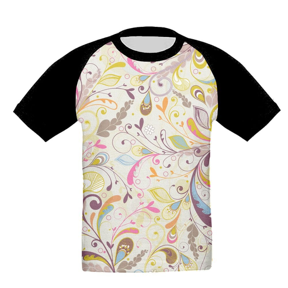chibaokun Multicolor Floral Unisex-Child T Shirt Baby Toddler Tee Round-Neck Short Sleeve Shirt